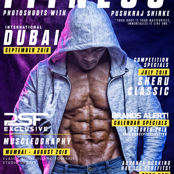 Dp magazine cover poster for psf fitness shoots